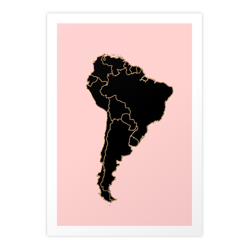 South America map Art Print by annago (PRN8711995) photo