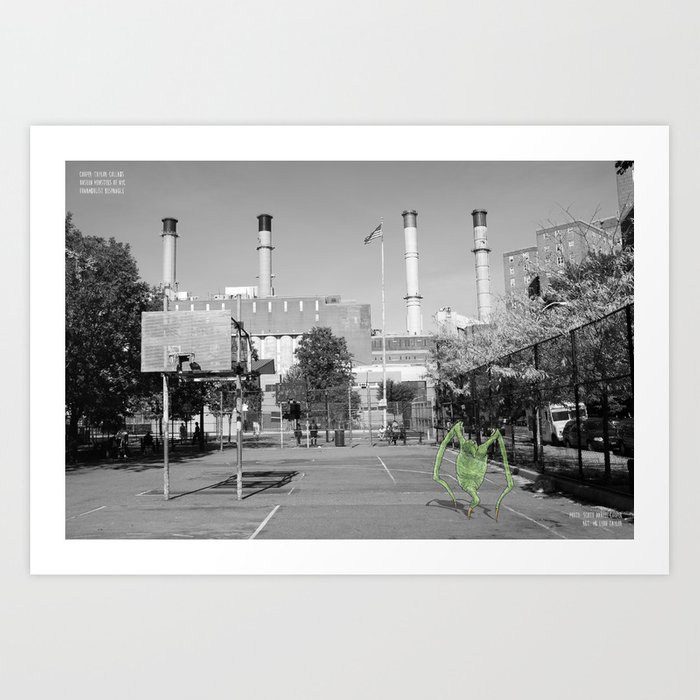Unseen Monsters of New York - Funambulist Bespangle Art Print