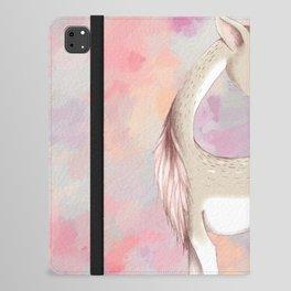 Baby Deer With Bird Nursery Decor Watercolor Painting iPad Folio Case