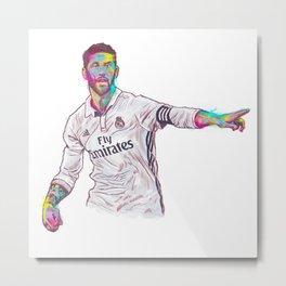 Real Madrid Sergio Ramos Metal Print