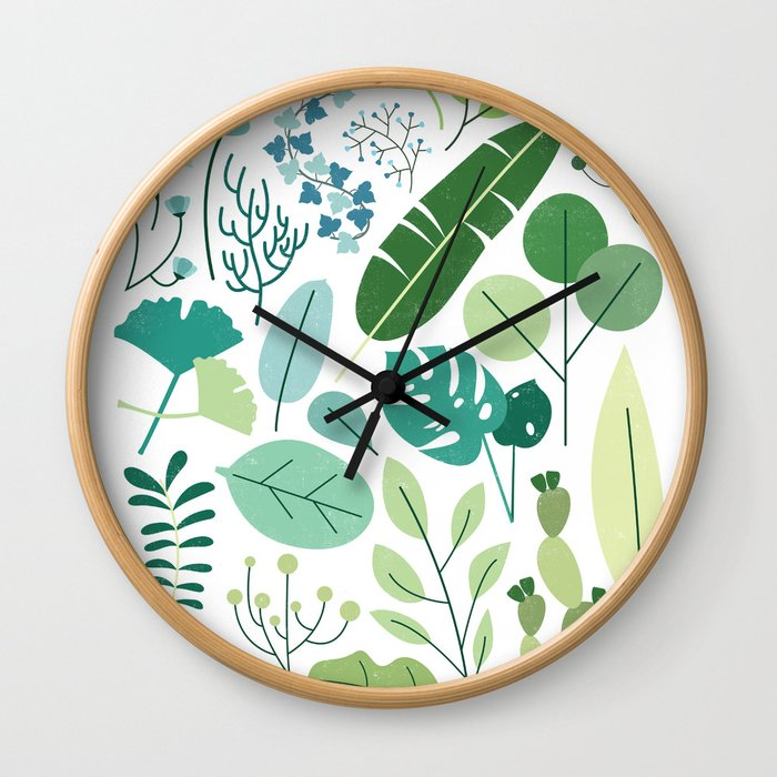 Botanical Chart Wall Clock
