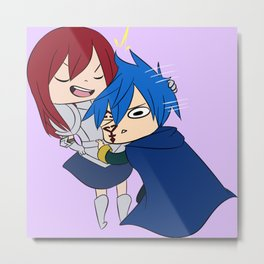 Jerza (Jellal and Erza) Metal Print