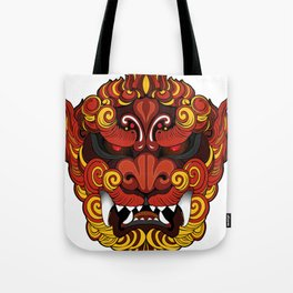 Dragon chino de la oscuridad Tote Bag