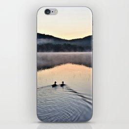 Love Ducks at Dawn on Lake George iPhone Skin