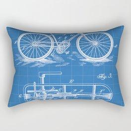 Bike Patent - Bicycle Art - Blueprint Rectangular Pillow