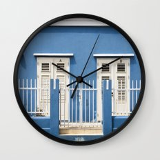 Blue House Wall Clock