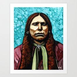 Kwihnai (Quannah Parker Portrait) Art Print