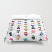 bugs Duvet Covers featuring Pretty Bugs by Elisabeth Fredriksson