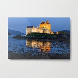 EILEAN DONAN CASTLE - SCOTLAND LANDSCAPE NIGHT PHOTOGRAPHY PRINT Metal Print
