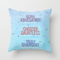 divergent Throw Pillows featuring Truly Divergent by Tiffany 10
