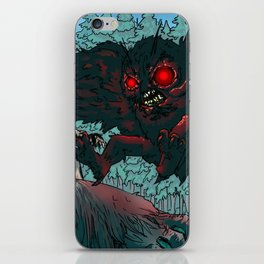 MOTHMAN DIVE BOMBING SASQUATCH iPhone Skin