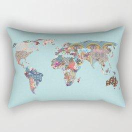 Louis Armstrong Told Us So (teal) Rectangular Pillow