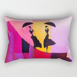 LADIES UNDER UMBRELLAS Rectangular Pillow