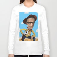 woody allen Long Sleeve T-shirts featuring Woody Allen by Joshua Ang