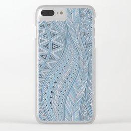 calm bay Clear iPhone Case