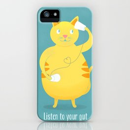 Listen To Your Gut iPhone Case