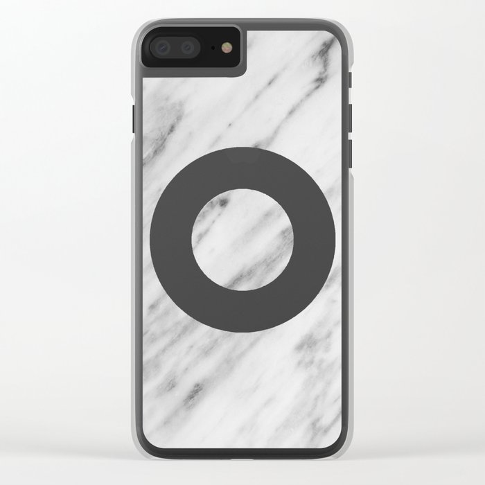 Bw Marble Clear iPhone Case