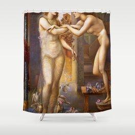 12,000pixel-500dpi - Edward Burne-Jones  - Pygmalion and the Image, The Godhead Fires Shower Curtain