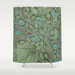 William Morris Art Nouveau Forget Me Not Floral Shower Curtain