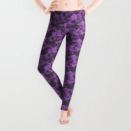 Moody Florals in Purple Leggings