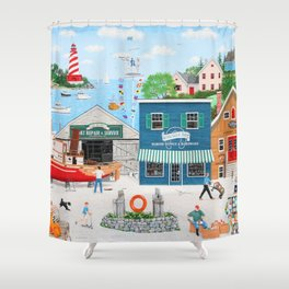 Where the Buoys Are Shower Curtain