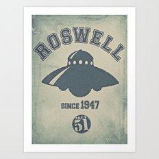 ROSWELL! Art Print
