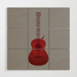 Classical Notation - Cherry Red Wood Wall Art