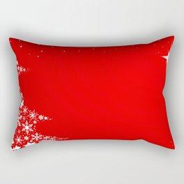 Red Christmas Rectangular Pillow