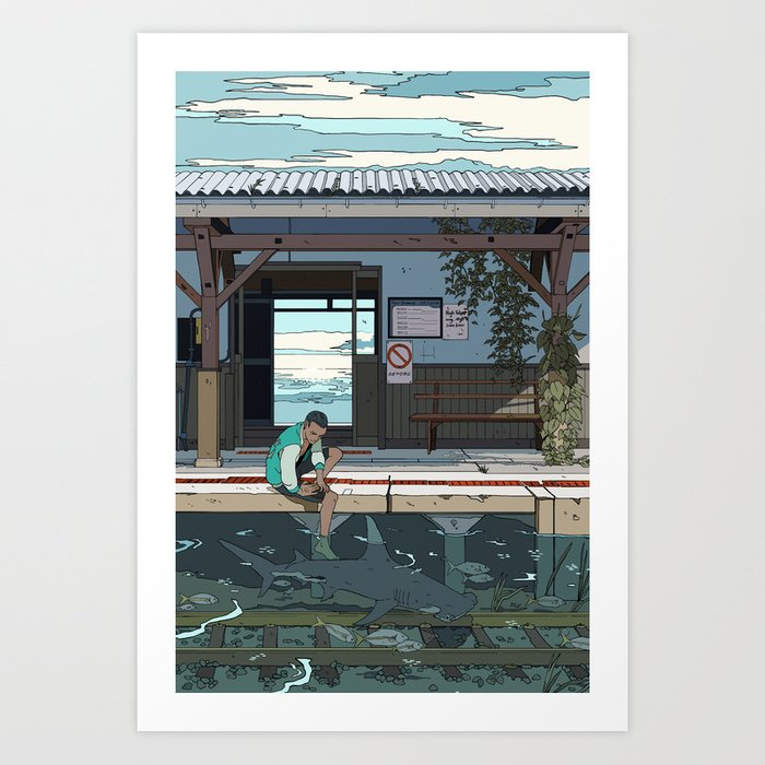 High Tide Tracks Kunstdrucke