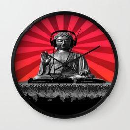 DJ Buddha Wall Clock