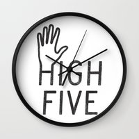 High Five Wall Clock