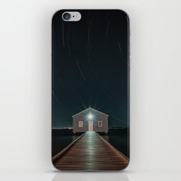The Boat House Star Trail iPhone Skin