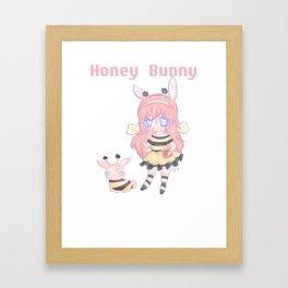 Honey Bunny Framed Art Print