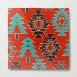 Navajo with pine trees Metal Print