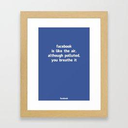 Poster Facebook Framed Art Print