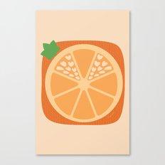 Orange Heart Canvas Print