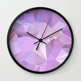 Electric Lavender Abstract Low Polygon Background Wall Clock