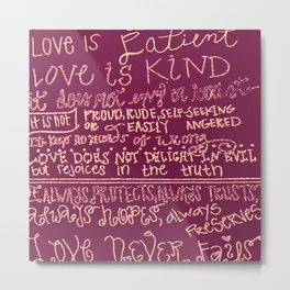 Love is Kind (purple) Metal Print