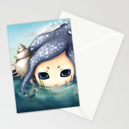 The monster in the sea is the water that reflects. Stationery Cards