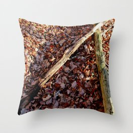 Laid out Throw Pillow