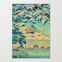Kehiin in the Snow Canvas Print