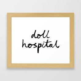 Doll Hospital logo Framed Art Print
