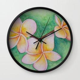 Plumeria Wall Clock