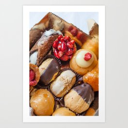 Plate of Italian Pastries Art Print