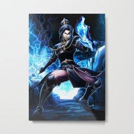 Blue fire Queen Metal Print
