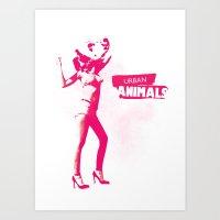 UA UrbanAnimals Art Print