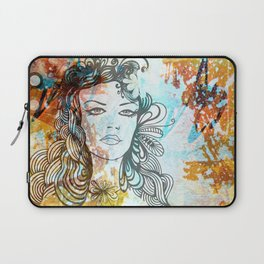 floral girl Laptop Sleeve