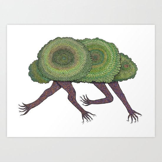 Creeping Shrubbery Art Print