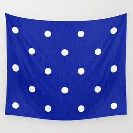 Dotty Blue Wall Tapestry