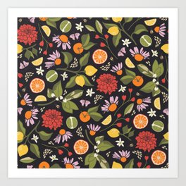Citrus Grove Art Print